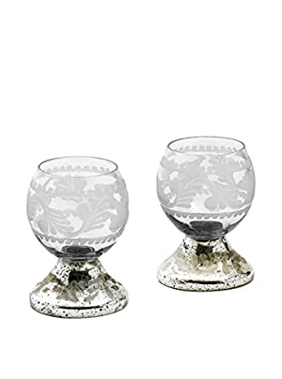 Go Home Small Crystal Ball Votives, Clear