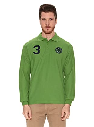 Polo Club Polo Manga Larga Custom Fit Con Número (Verde)