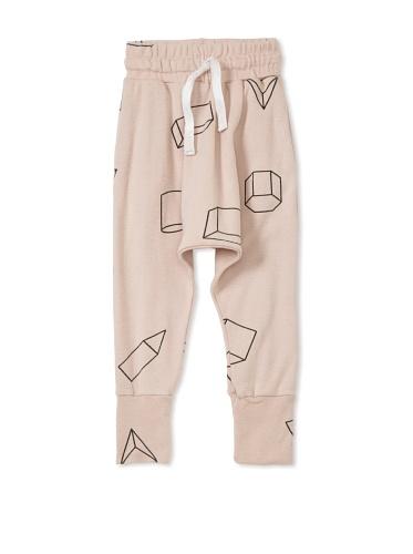 NUNUNU Baby Geometry Baggy Pants (Pink)