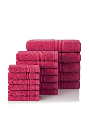 Chortex 17-Piece Ultimate Towel Set, Flamingo
