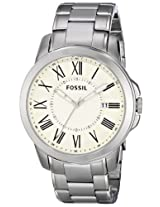 Fossil Analog White Dial Men's Watch - FS4734
