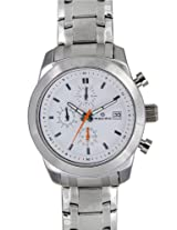 Maxima Attivo Chronograph White Dial Men's Watch - 27181CMGI