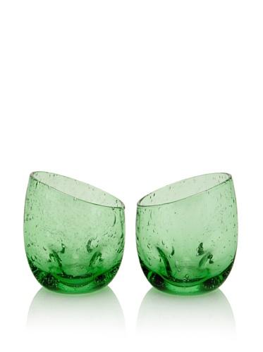 Tivoli Set of 2 Juice Glasses (Green)