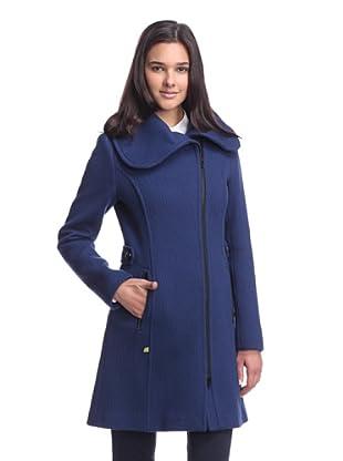 Soia & Kyo Women's Zip-up Coat with Oversize Collar (Blue)