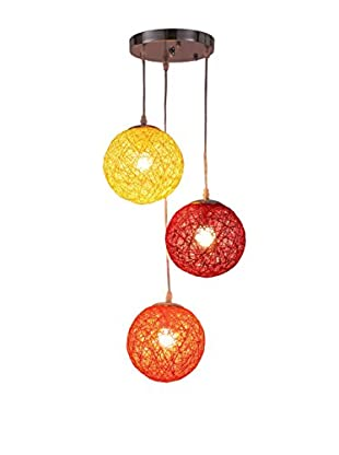 International Designs Sunset Ceiling Light, Yellow/Orange/Red