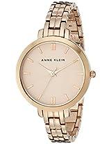 Anne Klein Women's AK/1446RGRG Rose Gold-Tone Thin Bracelet Watch