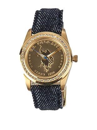 U.S. POLO ASSN. Uhr mit japanischem Quarzuhrwerk Prestige denim 36 mm