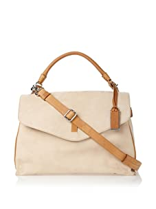 Gryson Women's Cybelle Belted Large Top Handle Messenger (Beige Calf)