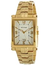 Titan Analog Gold Dial Men's Watch - 9327YM02