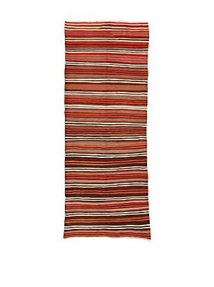 Design Community By Loomier Teppich Kilim Caucasico rot/mehrfarbig 132 x 326 cm