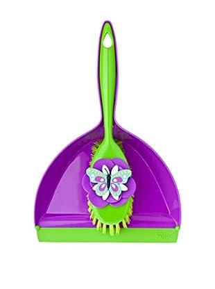 VIGAR Cepillo De Mano 2 Piezas Vincent´S Farm Insects Violeta / Verde