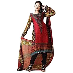 Pick Any 1 Pakistani Inspired Embroidered & Printed Dress Material by Khazana