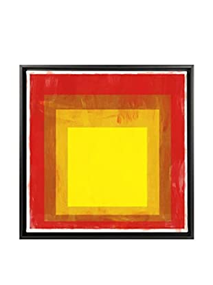 Modern Art Red & Yellow Squares Canvas Print
