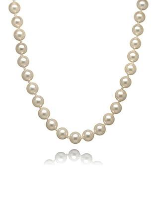 Perldor - 60401006_42 Collar de mujer Gris de ley con perla natural Blanco 42 cm