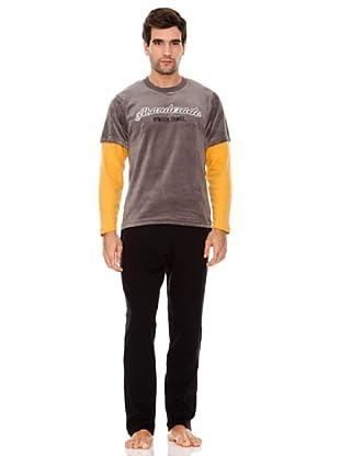 Abanderado Pijama Caballero Plomo (Gris / Negro / Amarillo)