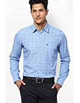 Light Blue Full Sleeves Casual Shirts Allen Solly