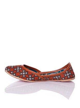 Sigris Zapato Geométrico (Naranja)