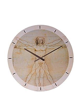 Artopweb Reloj De Pared Da Vinci Uomo Vitruviano