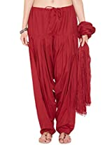 Stylenmart Women's Cotton Dupatta & Patiala Set (STMAFPD078620_Red_Free Size)