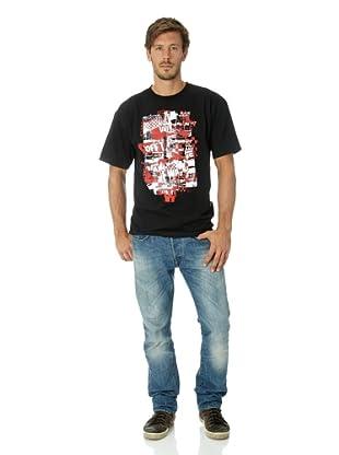 Vans Herren T-shirt Otw Checker Blaste (Black)