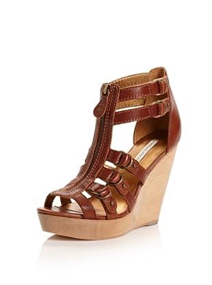 Cynthia Vincent Women's Jagger Wedge Sandal (Brandy)