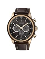 Citizen Eco-Drive Chronograph Brown Dial Men's Watch - CA4037-01W