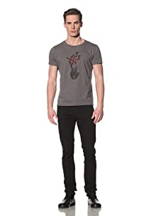 Tee Library Men's Universe In Our Hands Crew Neck T-Shirt (Grey)