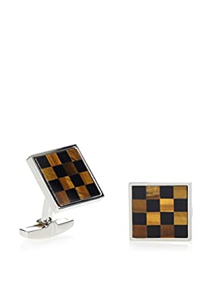 Daniel Dolce Tiger Eye and Onyx Cufflinks