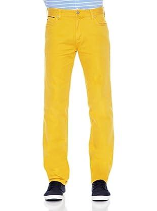 Pedro del Hierro Pantalón Bolsillos Color Ppt (Amarillo)