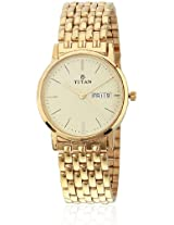 Royal Nc149Ym07 Gold Analog Watch