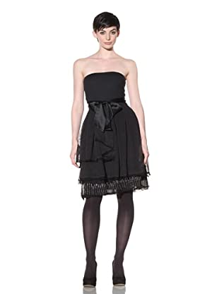 Project Alabama Women's Tulle Strapless Dress (Black)