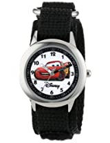 Disney Kids W000093 Cars Time Teacher Stainless Steel Watch with Black Nylon Band