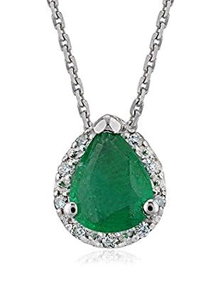 Divas Diamond Conjunto de cadena y colgante Diamond Drop Emerald