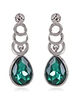 Trendy Baubles Green Glass & Diamante Dangler For Women