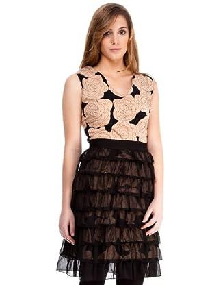 Almatrichi Vestido Muselina (negro / crema)