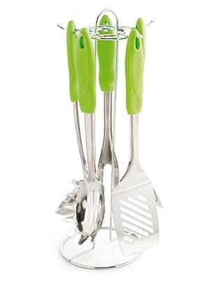 Arcuisine Juego Cocina 5 Piezas Con Soporte Modelo Ceos Green