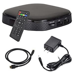 Intelligent Android TV Box with Full HD Player -Black
