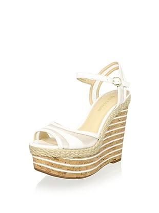 Enzo Angiolini Women's Zosima Platform Wedge Sandal (White)