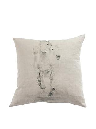 Filling Spaces Horse Print Pillow, Beige