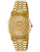 Maxima Formal Gold Analog Multi-Colored Dial Men's Watch - 01433CMGY