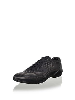 Bacco Bucci Men's Vinci Sport Shoe with Stitch Detail (Black)