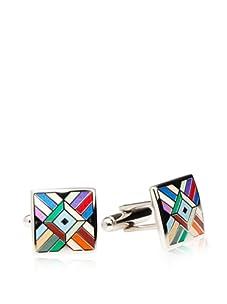 Joseph Abboud Men's Mosaic Cufflinks (Multi Color)