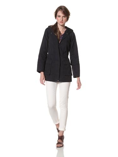 Whit Women's Monsoon Slicker Raincoat (Navy)