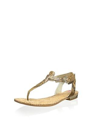 Elaine Turner Women's Mara Thong Sandal (Caramel)