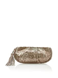 Foley + Corinna Women's Tasseled Clutch (Bronze Croc)