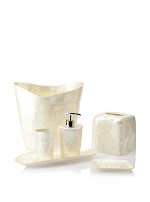 Pearl Dragon Organic Circular Layers 6-Piece Bathroom Set (Ivory)