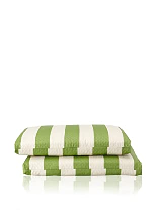 Waverly Set of 2 Sun-n-Shade Solstice Squared Seat Cushions (Cactus)