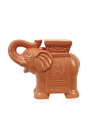 Urban Trends Collection Ceramic Elephant (Sunset Orange)