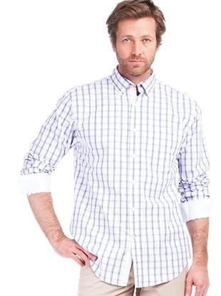 Cortefiel Camisa Cuadros (blanco / malva)