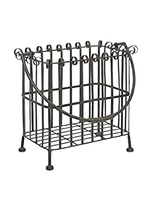 Three Hands Metal Basket, Distressed Black